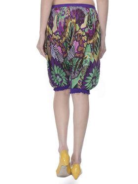 Lavennder Cotton Printed Ladies Capri Short - Multi_LW-5165
