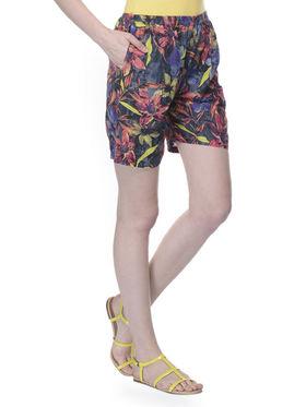 Lavennder Cotton Printed Ladies Short - Multi_LW-5167