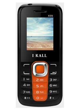 I Kall K99 Dual Sim Mobile - Black & Orange