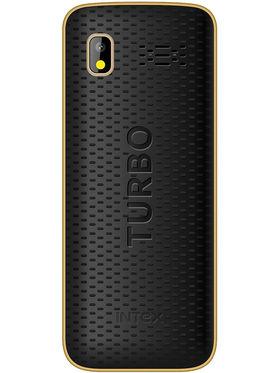 Intex Turbo Star Dual Sim - Black & Gold