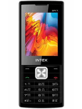 Intex Spy 7 Dual Sim - Silver & Black