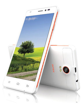 Intex Cloud M5 II Android (KitKat) 3G Smartphone - White & Orange