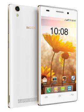 Intex Aqua power Plus Android Lollipop 3G Smartphone - White & Champagne