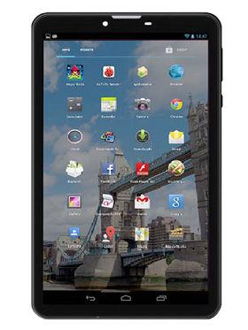 Vox V102 Quad Core Android Kitkat Dual Sim 3G Calling Tablet - Black & White