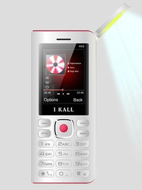 I Kall K42 8000 mAh Powerbank cum Feature Phone ( White & Red )