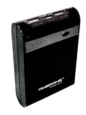 Ambrane P-1000 (STAR) 10400 mAh Power Bank - Black