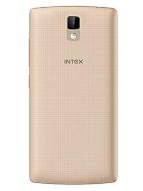 Intex Aqua Craze Quad Core Lollipop 4G Smartphone (RAM:1GB ROM:8GB) - Champagne