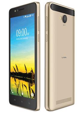 Lava A79 Lollipop 5.1 Quad Core Smart Phone (RAM :1GB : ROM : 8GB ) Gold