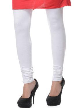 Combo of 10 Lavennder Solid Cotton Lycra Leggings