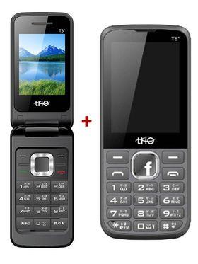Combo of Trio Flip Phone + Trio  Featured Phone