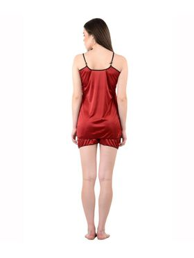 Pack of 3 American-Elm Women Satin Nighty - AENTY-041418