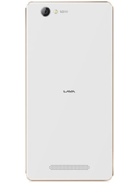 Lava A72 Lollipop 5.1 Quad Core (RAM : 1GB ROM : 8GB) - White & Gold