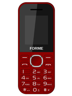 Combo of Forme K09 Dual SIM Feature Phone- ( Red + Gray)