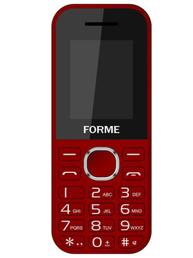Combo of Forme K09 Feature Phone (Red) + Forme C3520 Flip Phone (Blue)