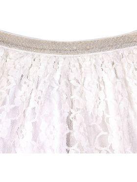 ShopperTree Solid White Nylon, Cotton linning Skirts -ST-1648_6-12M