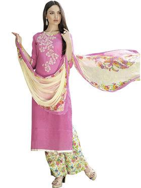 Viva N Diva Printed Satin Cotton Semi Stitched Suit -vnd11