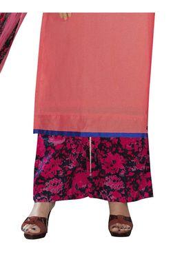 Viva N Diva Printed Satin Cotton Semi Stitched Suit -vnd13