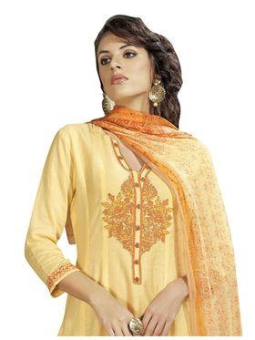 Viva N Diva Printed Satin Cotton Semi Stitched Suit -vnd15