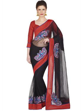 Designersareez Net Embroidered Saree -1840