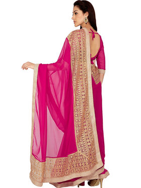 Designersareez Georgette Zari Threaded Saree -1975