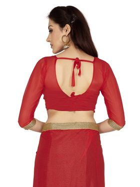 Designersareez Zari Threaded Lycra Saree -2000