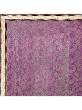 Designersareez Printed Net and Brasso Saree -2009