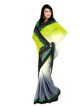 Pack of 2 Zoom Fabrics Embroidered Chiffon Saree_2712-B,2716-A
