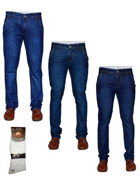 Pack of 3 Denim Cafe Regular Fit Cotton Jeans For Men_12448648
