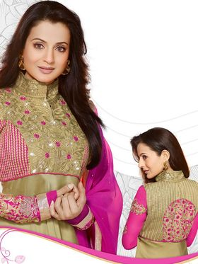 Adah Fashions Embroidered Georgette Semi-Stitched Suit 449-5009