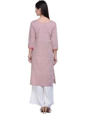 Lavennder Khaadi Plain Onion Long Straight Kurta - 623554
