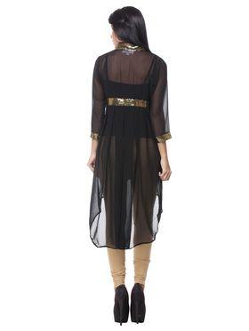 Lavennder Georgette Solid Dresses -623599