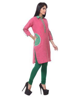 Lavennder Khadi Striped Kurti -623600