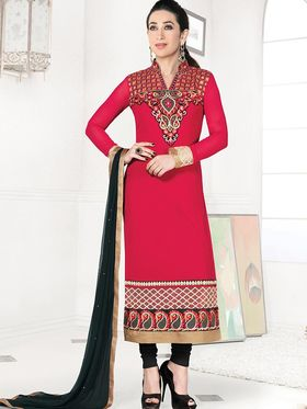 Adah Fashions Embroidered Georgette Semi-Stitched Suit 782-5171