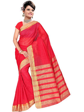 Adah Fashions Red South Silk Saree -888-127