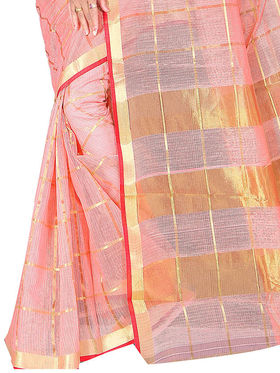 Adah Fashions Beige South Silk Saree -888-130