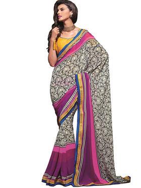 Zoom Fabrics Georgette Printed Saree -A1110