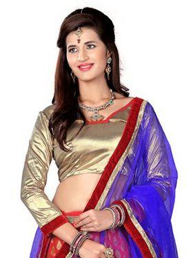 Khushali Fashion Embroidered Net Lehenga Choli(Red,Beige)_ASFN2A118RED