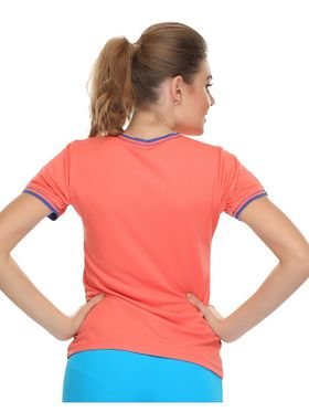 Clovia Polyester Blended Solid Sports T-Shirt -AT0012P16