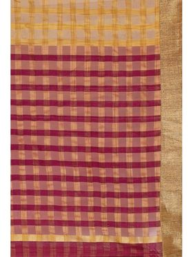 Admyrin Kota Check Saree with Brocade Blouse Piece-ays02