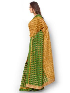Admyrin Kota Check Saree with Brocade Blouse Piece-ays03