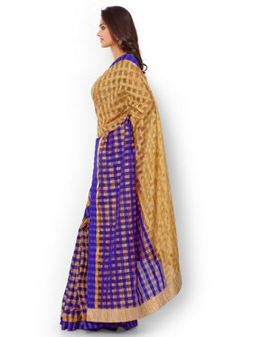 Admyrin Kota Check Saree with Brocade Blouse Piece-ays05