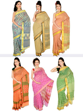 Aanchal Set of 6 Gadwal Sarees (6GD1)