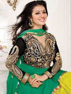Adah Fashions Georgette Embroidered Anarkali Suit - Multicolor - 658-1006