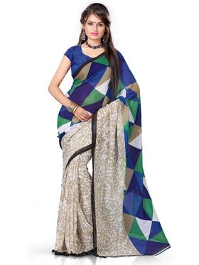 Parnavi Pack of 7 Georgette Sarees - By Adah Fashions
