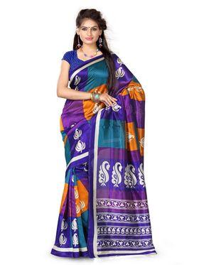 Combo of 7 Adah Fashions Art Silk Printed Sarees