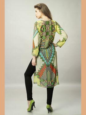 Admyrin Georgette Printed Kurti - Multicolor - 1302