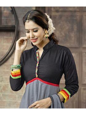 Viva N Diva Semi Stitched Cotton Embroidered  Suit Amigo-12001
