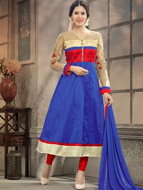 Viva N Diva Semi Stitched Cotton Embroidered Suit Amigo-12005