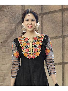 Viva N Diva Semi Stitched Cotton Embroidered Suit Amigo-12007