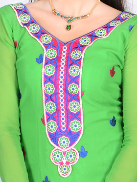 Arunima Set of 3 Designer Embroidered Dress Material with 1 Free Embroidered RTS Kurti Material - New